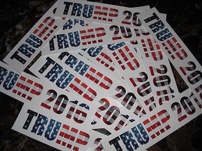 (2) Donald Trump Bumper Sticker American Flag USA Decal President Collectible