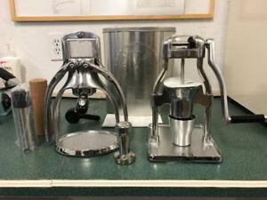 Espresso Machine and Coffee Grinder