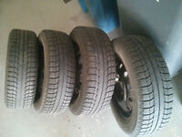 175/65/14 Michelin X-ICE winter tires and rims