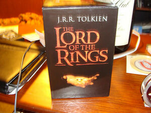 complete lord of the rings 7 book set in original case.