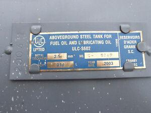 2003 oil tank for furnace oil 910 litres