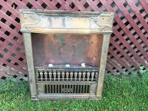 Rare Victorian 1920's Electric Fireplace insert Antique