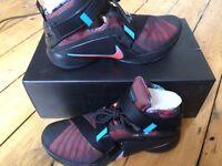 NIKE LeBron Soldier IX Basketball Shoes, Black/Orange