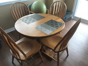 solid wood table with 4 chairs for sale