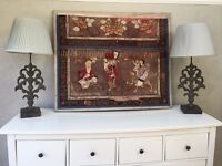 ANTIQUE CHINESE SILK ARTWORK PICTURE PAINTING