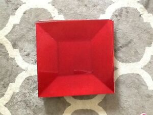 Brand new square red charger plates