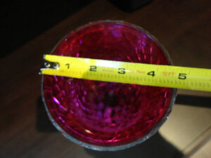 Red Mosaic Glass vase or decorative Container -Perfect Condition Kitchener / Waterloo Kitchener Area image 6