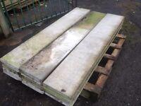 18 Used concrete base panels......