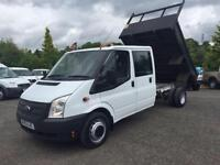 2012 62 FORD TRANSIT 2.2 350 DCB 1D 99 BHP DIESEL DOUBLE CAB TIPPER PICK UP