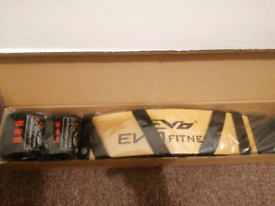 EVO Arm Blaster Biceps Isolator Weightlifting with wrist straps