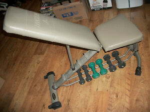 BANC EXERCISE CUIRE * DANSKIN * DUMBELL & WEIGHT EXERCISE BENCH