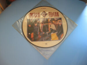 Single 12'' The Reflex de Duran Duran avec photo imprimée dessus