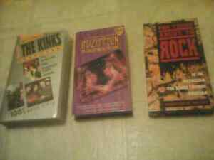 3 old rock VHS tapes-Kinks,Led Zeppelin, AC/DC-LOOK