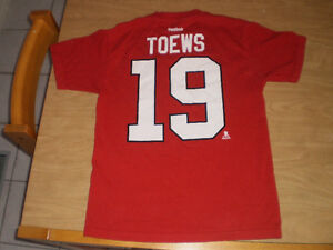 Jonathan Toews Chicago Blackhawks T-Shirt Reebok Medium London Ontario image 6