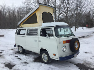 1975 Westfalia Pop Top Camper Van - Solid Bus - Clean Frame