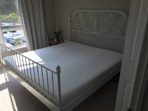 king size bed with mattress from IKEA 250$