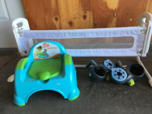 Toddler potty, bed rail, cupholders