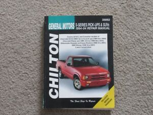 1994-2004 Chevy S10 Chilton Repair manual.