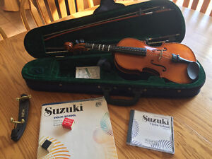 1/2 size student violin outfit