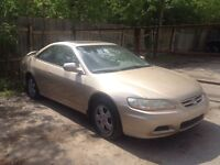 2001 Honda Accord Coupe FOR PARTS or repair