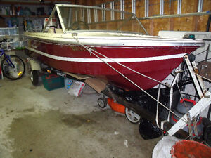BARELY USED 14 Feet Peterborough Fiberglass Boat with 70 HP