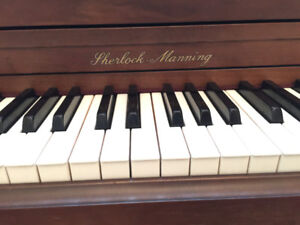 Excellent upright piano with deep sound
