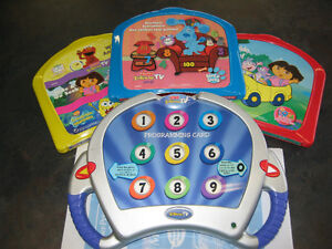 Interac TV (Fisher Price) includes 3 DVD's