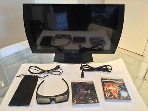 Tv Playstation 3D-lunette-2jeux/Playstation 3D tv-glasse-2games