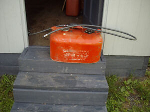 OUTBOARD GAS CAN AND HOSE FOR SALE