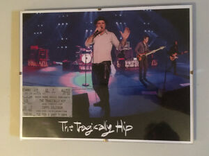 "The Tragically Hip 8.5""x11"" Framed Items"