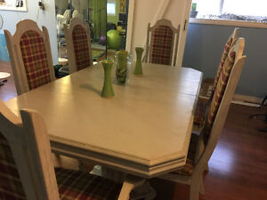 Antique Chairs & Table Set