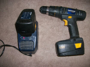 "Mastercraft 18 volt 'Source One"" Drill with two batteries."