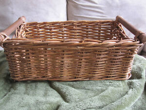 """Rattan 20"""" Decorative Storage Basket With CARRY SIDE HANDLES"""