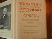 Vintage Webster Dictionary
