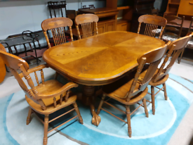 Solid Oak Extendable Dining Table & 6 Chairs 🤩excellent condition🤩