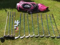 Full Set Of Ladies Golf Clubs & Bag
