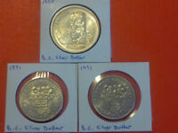 B.C. Silver Dollars - 1958 and 1971 (x2)