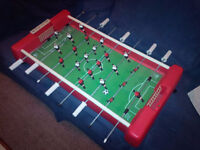 Red Table Top Foozball (Soccer) Game