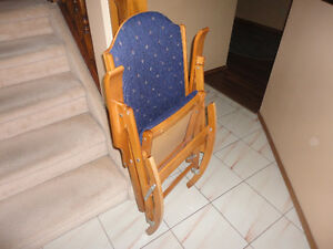 High Quality Folding Hard Rock Maple Rocker....Made In Quebec