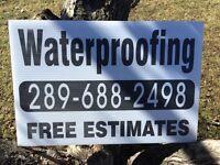 Basement waterproofing service