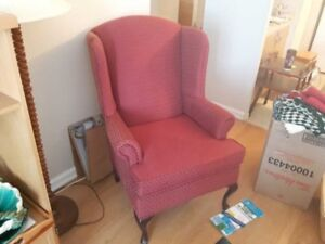 Wing Back Chair - New Condition