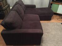 L Shaped Sofa Dark Grey ***Must go by Thursday 25th Aug***