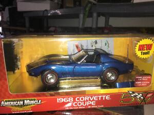 Chevrolet Corvette 1968 t top diecast 1:18 Die cast