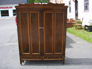 large antique wooden  storage cupboard