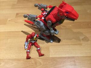 Dinosaure de Power Ranger avec figurines