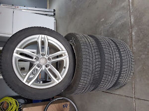 OEM Audi rims and Michelin winter tires