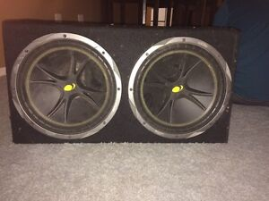 """12"""" kickers with amp"""