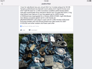 Honda cr gaskets and other parts for sale