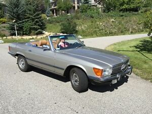 Mercedes 380SL for sale - Euro bumpers/headlights
