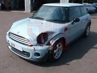 2011 Mini One 1.6 DAMAGED REPAIRABLE SALVAGE